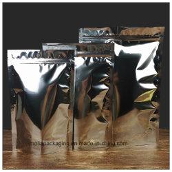 Stand-up PET/Aluminium VMPET/PE Feuille de mylar de la sécurité alimentaire Pochette de rangement clair/sac d'argent