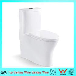 Хорошее качество простота очистки из одного куска фарфора туалет