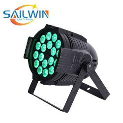 Alto brillo Panta 18*15W 5en1 Rgbaw Alumnium luz UV LED PAR