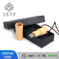 Usine de bois de Bambou créatrice de gros disque U dispose de disque 16gbu Logo personnalisé cadeau publicitaire Business U de disque