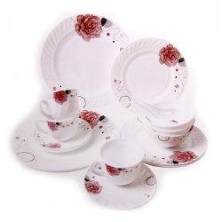 بيضاء زجاجيّة عشاء مجموعة [هت-رسستنت] أوبال آنية زجاجيّة أداة مائدة [ت] مجموعة بالجملة