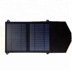 Opvouwbare USB draagbare mobiele telefoon-autobatterij met zonnepaneel, 14 W. Opvouwbare zonnelader voor agent