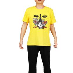 人のための円形の首の印刷の綿かレーヨンTシャツ