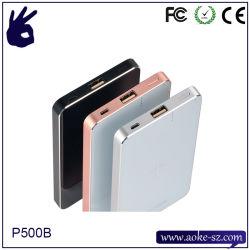 Le Qi Chargeur de téléphone mobile sans fil de banque d'alimentation 5000 mAh