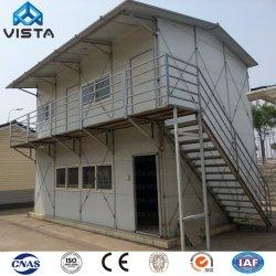 As novas chapas galvanizadas Low-Cost Construções prefabricadas Kit painel sanduíche Modular Móveis Villa Metal Leve Estrutura de aço trabalhadores Prefab Office Casa Contêiner
