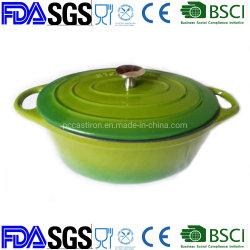 Classic green forme ovale casserole en fonte, fonte Pot.