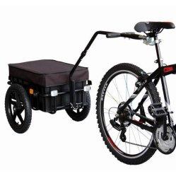 Rimorchio nero della bicicletta del baldacchino con due rotelle