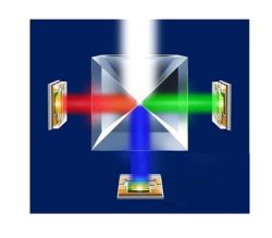 25X25X25 de la cruz de cubo combinador de RGB dicroicos o divisor X-Cube Prisma