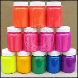 Gradient de pigments de couleurs néon, lampes fluorescentes clou poudre acrylique