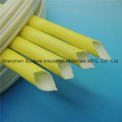 L'usure enduit acrylique résistant à l'isolation thermique gaine tressé en fibre de verre
