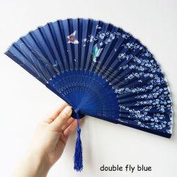 Regalo de decoración de los cerezos en flor de la moda de bolsillo Chinese Japanese Ventilador de plegado