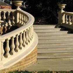 Naturstein Geländer Balustrade für Balkon Treppe