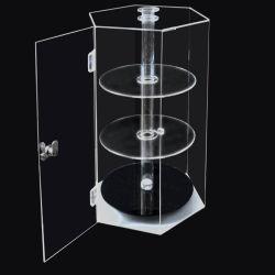 Roterende doorzichtige Acryl-kast voor het weergeven van organische glasplaten