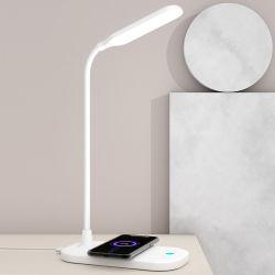 مصباح الشحن اللاسلكي الهواتف المحمولة طي مصباح LED للشحن باللمس