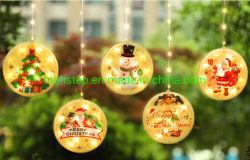 عيد ميلاد المسيح ستار [لد] أضواء, مستديرة مسطّحة كرة شكل