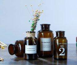 Kreativer Brown-Medizin-Flaschenglas-Vase für Hauptdekor