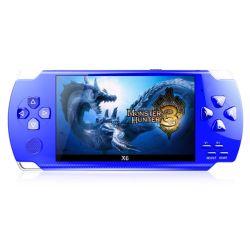 X6 Tela de consola de jogos portátil Leitor de MP4 Vídeo Games 8 GB de suporte para câmara de vídeo jogos PSP