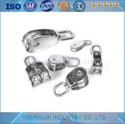 Paranco differenziale di sollevamento della corda della doppia singola parte girevole pesante della rotella della puleggia dell'acciaio inossidabile M15-100