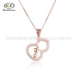 SterlingsilberZirconweibliche Clavicle-Ketten-Form Neckalace des Diamant-S925