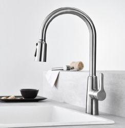 Tirez-out 304ss évier de cuisine robinet Surface brossé