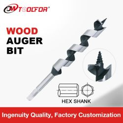 Haut de l'épi de queue de fixation hexagonale en acier au carbone vis à bois forets peu la vis de vidange