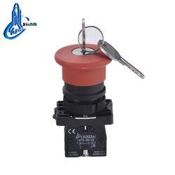 Lay5-S142 Cabezal tipo seta, llave de parada de emergencia interruptor pulsador de plástico