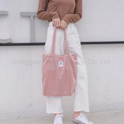 حقيبة تسوق من القطن الترويجي للسفر من OEM مع مقبض للاستخدام في الخارج