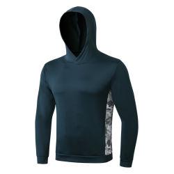 Vestiti lunghi misura bianchi del manicotto della camicia della parte superiore di serbatoio di ginnastica di Hoodie degli uomini del ricamo di marchio della pianura su ordinazione dello spazio in bianco