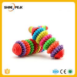 다채로운 고무 개 장난감 애완 동물 제품 애완 동물 장난감 씹기 애완견 강아지 치과 젖니가 남 건강한 이 실리콘껌 장난감 공 개 게임