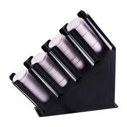 Draagbaar rood koffiekopje met 4 kolommen Condiment Organizer Zwart papier Koffiebekerhouder