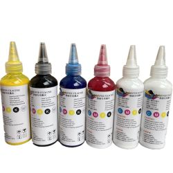CMYK White Pigment 100ml/200ml/500ml/1000ml DTG Direct용 잉크 텍스타일 잉크 인쇄 PET 필름 프린터 안료 인쇄 옷감용 DTF 잉크 인쇄 중