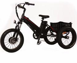 """24의 """" 성인 Mz 407를 위한 500W 뚱뚱한 타이어 3 바퀴 전기 Trike 화물 전기 세발자전거 전기 자전거"""