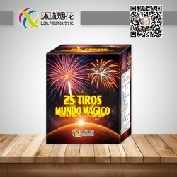 1inch 25shots Mundo Magico에 의하여 경축되는 소비자 옥외 싼 불꽃 놀이 케이크
