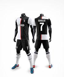 نظام ضغط الجمنازيوم يكافح كرة القدم بالأكمام القصيرة المخصصة لكرة القدم للرجال زي التدريب الرسمي
