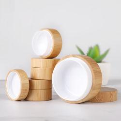5g 10g Bouteille de bambou pots de crème cosmétique pot de poudre de maquillage