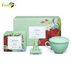 Libro blanco de cartón con forma de caja de regalo la impresión de tamaño té de embalaje Caja de caramelos de dulce