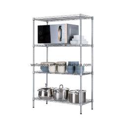 4 niveles de almacenamiento comercial Stand Cable Cocina Rack estanterías con organizador de la Especias