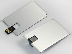 고속 슈퍼 씬 메탈 신용 카드 USB 플래시 드라이브
