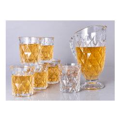 Verre de haute qualité Crystal Clear Pitcher - Jeu de 7 à 1 Pitcher et 6 gobelets / verres à eau / des verres à boire