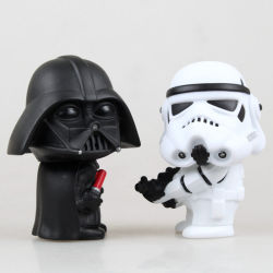 9cmのスターウォーズのDarth Vaderの帝国突撃隊員モデルおもちゃ