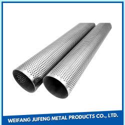 Qualidade elevada 304/316 em aço inoxidável malha perfurada do cilindro do filtro/ Tubos metálicos/tubos