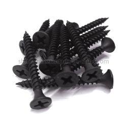 Noir standard DIN 18182 galvanisé phosphatés Bugle tête à filetage normal Fine parfait Tornillos de placoplâtre de gypse à bon marché mur sec vis à mur sec