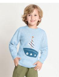 Детскую одежду мальчика Cool свитер мультфильм из чистого хлопка детский свитер