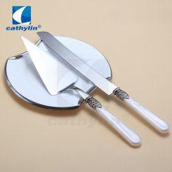 Cathylin Kunststoffgriff Messer Turner Kuchen Set für Party Geschenk
