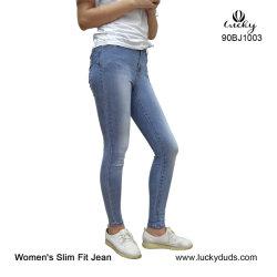 Les femmes en détresse Distroyed Fashion WASH DENIM Stretch Mesdames Skinny Jeans