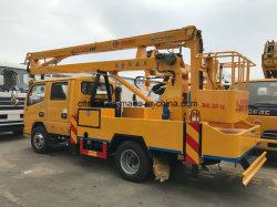 360도 트럭 장착 붐 리프트 유압 안테나 케이지 회전 엔지니어링을 위한 트럭