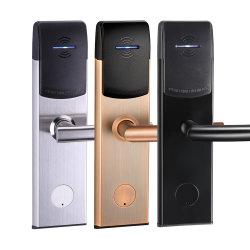 Acier inoxydable 304 Serrures de porte électronique Lock Hotel Hôtel Systemrfid de clé de verrouillage de carte de lecteur de carte avec la touche de serrure de porte et de la carte