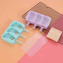 Venda a quente de verão fresco e saudável de Silicone reutilizáveis de alta qualidade de segurança de sorvete de molde Popsicle bricolage
