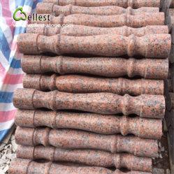 La pierre naturelle de l'érable balustres pour escalier de granit rouge