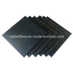 Stuoia di gomma del pavimento del commercio all'ingrosso di fabbricazione della Cina, stuoia di gomma commerciale Premium della pavimentazione di ginnastica, pavimento non tappezzato di ginnastica di gomma della casa di prezzi di sconto per forma fisica di Crossfit